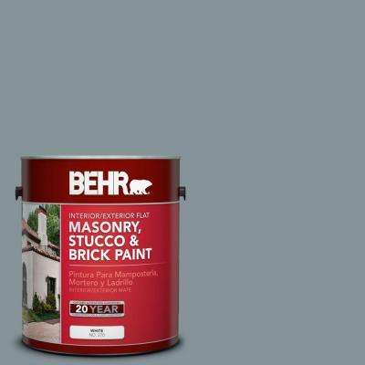 1 gal. #MS-68 Cape Storm Flat Interior/Exterior Masonry, Stucco and Brick Paint
