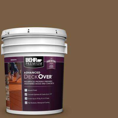 5 gal. #SC-109 Wrangler Brown Smooth Solid Color Exterior Wood and Concrete Coating