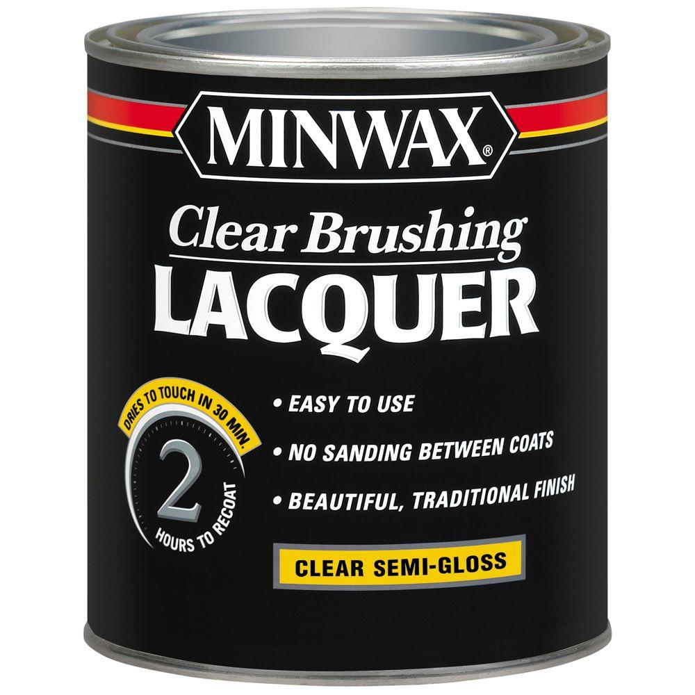 1 qt. Clear Semi-Gloss Brushing Lacquer (4-Pack)