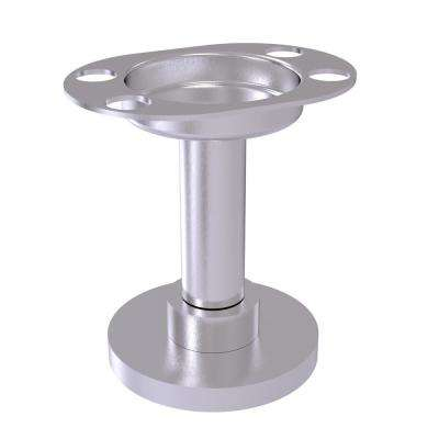 Vanity Top Tumbler and Toothbrush Holder in Satin Chrome