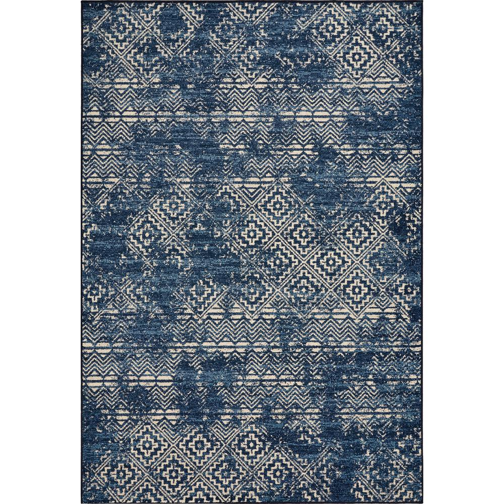 Kas Rugs Laguna Azure Blue Elements 5 ft. x 8 ft. Distressed Area Rug was $138.59 now $76.22 (45.0% off)