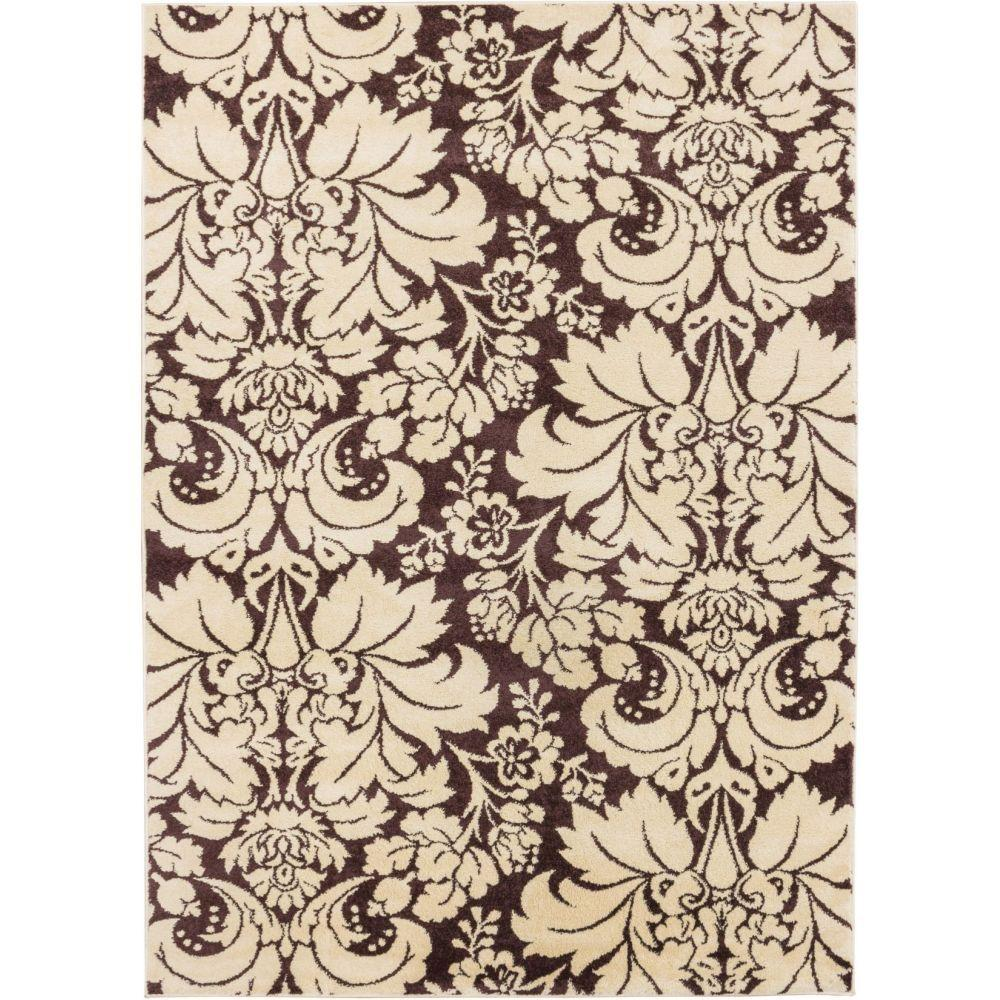 Sydney Damask Toile Brown 7 ft. 10 in. x 10 ft.