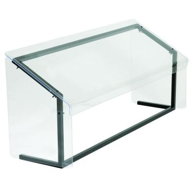 48 in. Long Fixed Height Crystal Aluminum Frame Sneeze Guard