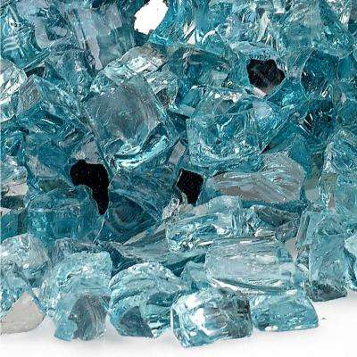 Azuria 1/2 in. Reflective Fire Glass 10 lbs. Bag