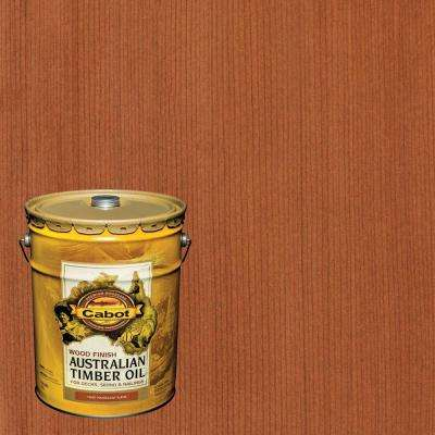 5 gal. Mahogany Flame Australian Timber Oil Exterior Wood Finish, VOC Compliant