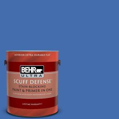 1 gal. #PPU15-05 New Age Blue Extra Durable Flat Interior Paint and Primer in One