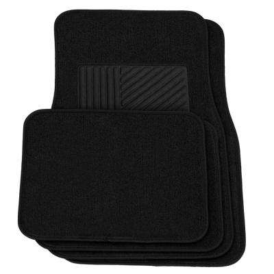 4-Piece Black Heavy-Duty 27 in. x  17.5 in. Floor Mats