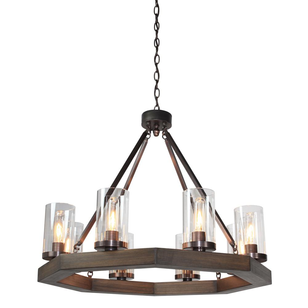 ARTCRAFT Jasper Park 8-Light Brunito Bronze Chandelier