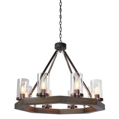 Jasper Park 8-Light Brunito Bronze Chandelier