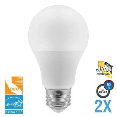 40-Watt Equivalent A19 Dimmable LED Light Bulb (2-Pack)
