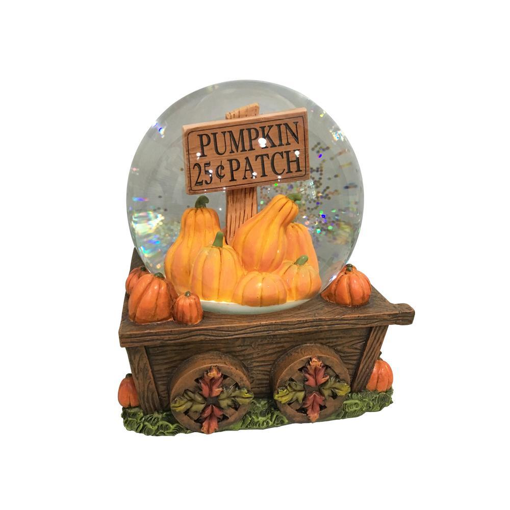 6 in. Harvest Pumpkins Waterglobe