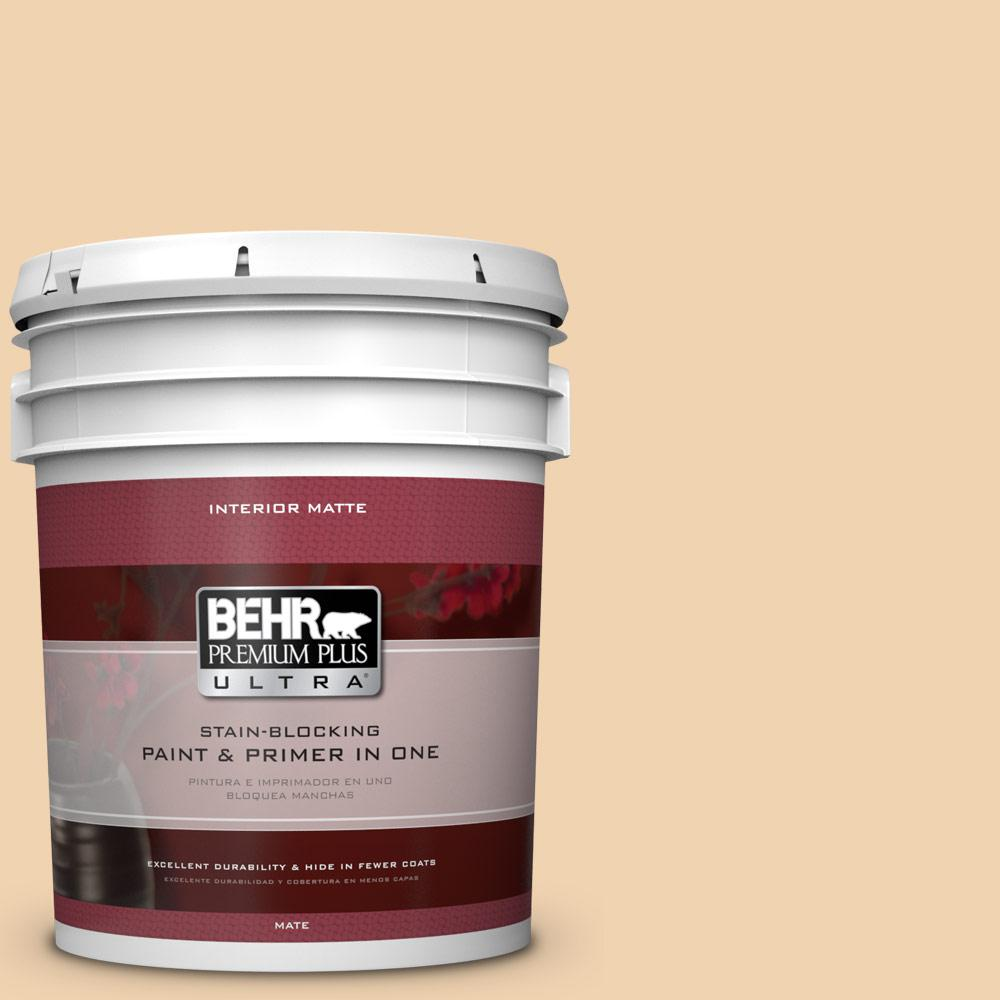 BEHR Premium Plus Ultra 5 gal. #M280-3 Champagne Wishes Matte Interior Paint