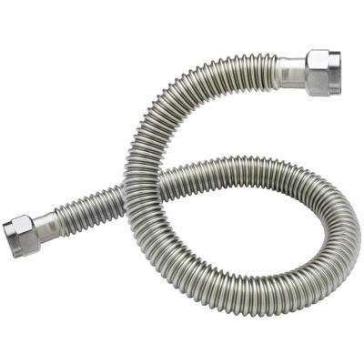 3/4 in. FIP x 3/4 in. FIP x 24 in. Coated Stainless Steel Water Heater Connector 3/4 in. ID