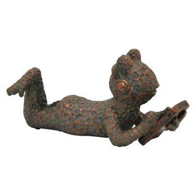 6.5 in. Green Frog Figurine Tabletop