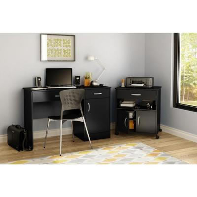 Axess Pure Black File Cabinet