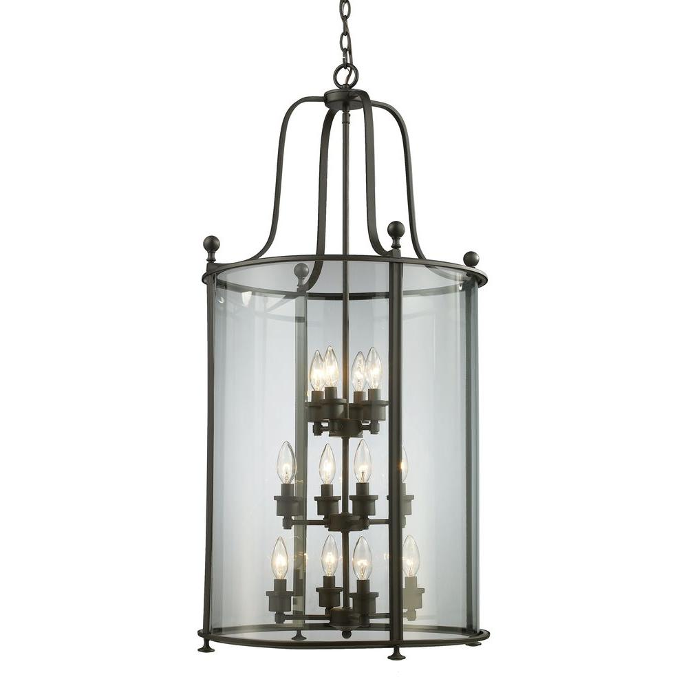 Lawrence 12-Light Bronze Incandescent Ceiling Pendant