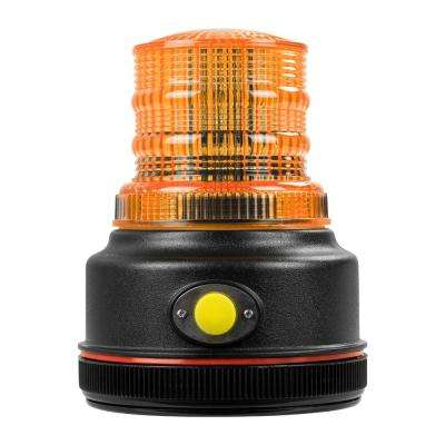 12-Volt 4 in. LED Battery Operated Magnetic Warning Beacon