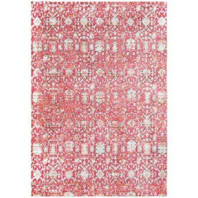 Caius Red/Pink 7 ft. 10 in. x 10 ft. 6 in. Oriental Area Rug