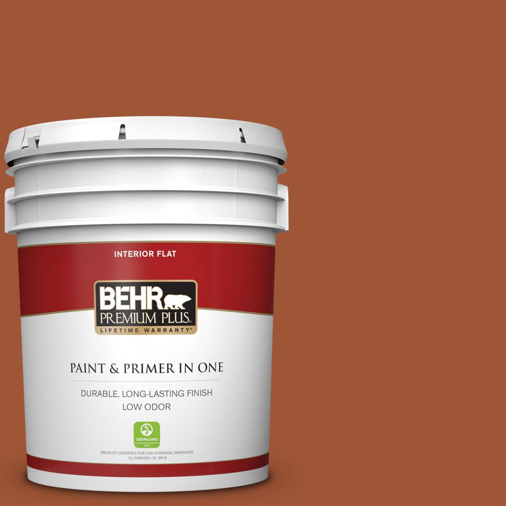 Reviews For Behr Premium Plus 5 Gal S H 230 Ground Nutmeg Flat Low Odor Interior Paint And Primer In One 130005 The Home Depot