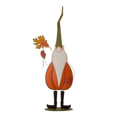 48 in. H Fall Metal Gnome Standing Decor(KD)