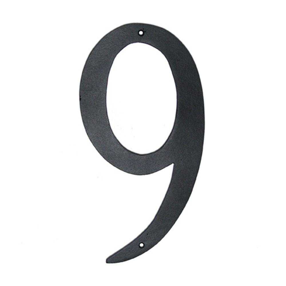 4 in. Standard House Number 9
