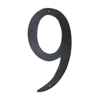 6 in. Standard House Number 9