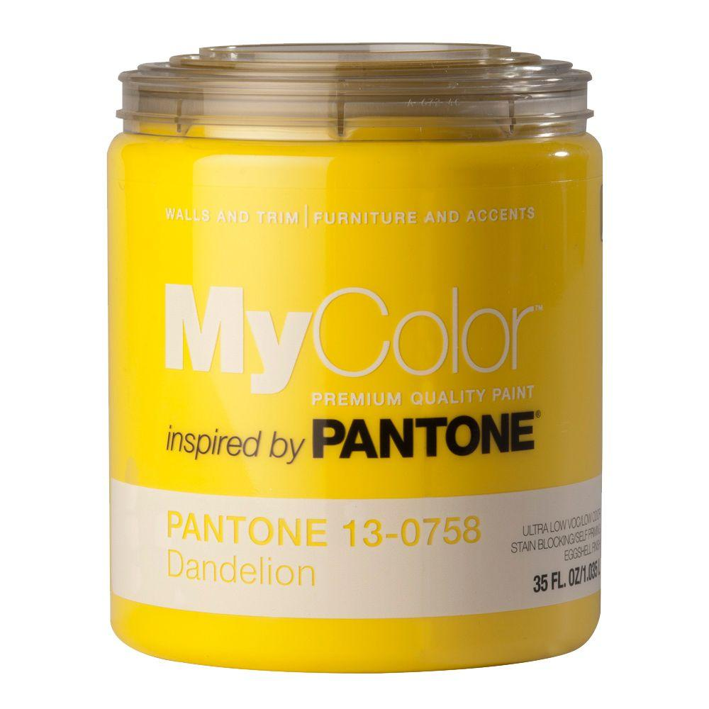 MyColor inspired by PANTONE 13-0758 Eggshell 35-oz. Dandelion Self Priming Paint-DISCONTINUED