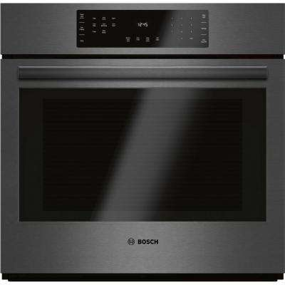 800 Series 30 in. Single Electric Wall Oven with European Convection in Black Stainless Steel with Self Clean