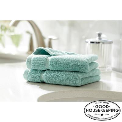 Turkish Cotton Ultra Soft Wash Cloth in Aqua (Set of 2)