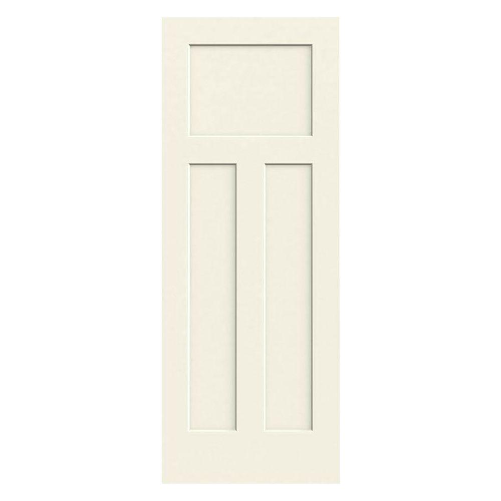 28 in. x 80 in. Craftsman Vanilla Painted Smooth Solid Core
