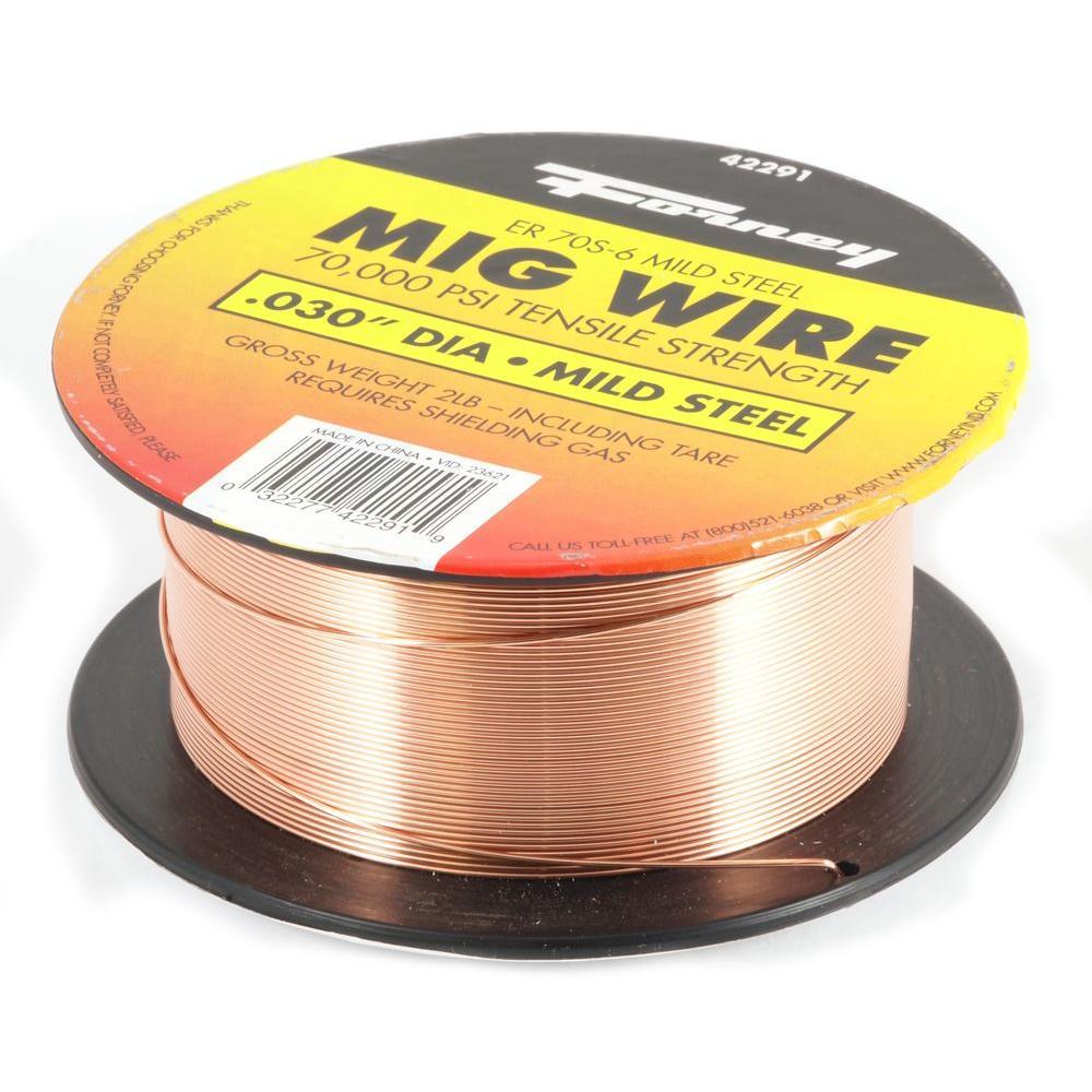 0.030 Dia E70S-6 Mild Steel MIG Wire 2 lb. Spool
