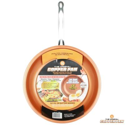 12 in. Copper Non-Stick Round Fry Pan