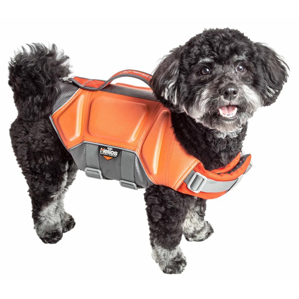 Dog Helios Large Orange Tidal Guard Reflective Pet Dog Life Jacket Vest
