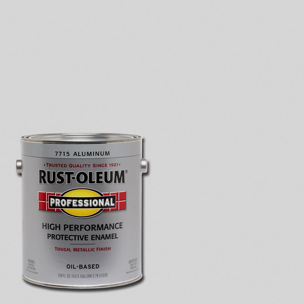 Rust-Oleum Professional 1 gal. High Performance Protective Enamel Gloss Aluminum Oil-Based Interior/Exterior Paint (2-Pack)