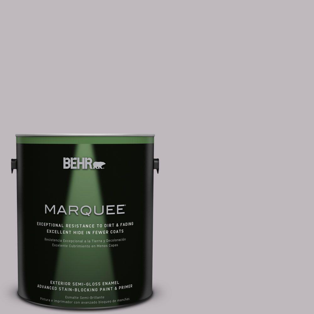 1-gal. #PPU16-10 French Lilac Semi-Gloss Enamel Exterior Paint