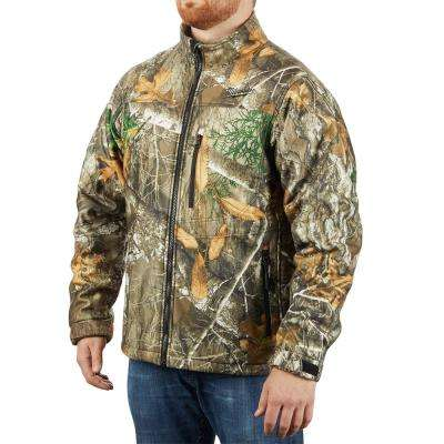 Men's Large M12 12-Volt Lithium-Ion Cordless RealTree Camo Heated Jacket Kit with (1) 2.0Ah Battery and Charger