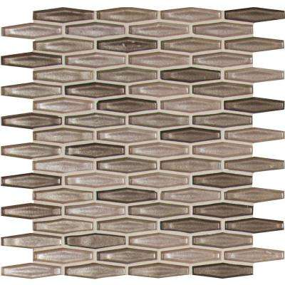 Champagne Estate 11-1/2 in. x 12.36 in. x 6 mm Glass Mesh-Mounted Mosaic Tile (14.81 sq. ft. / case)