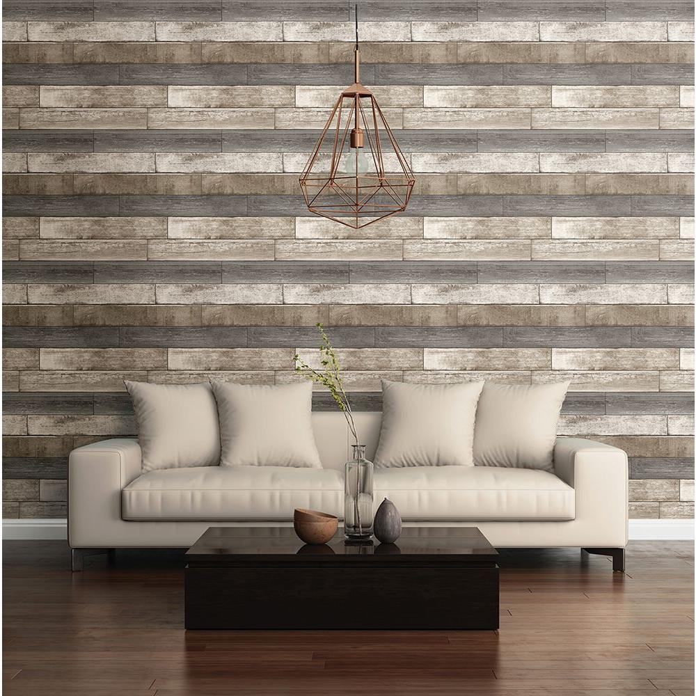 Living room wallpaper texture - Brewster Grey Weathered Plank Wood Texture Wallpaper Sample