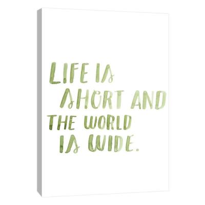 10 in. x 12 in. ''Typography no.7'' Printed Canvas Wall Art
