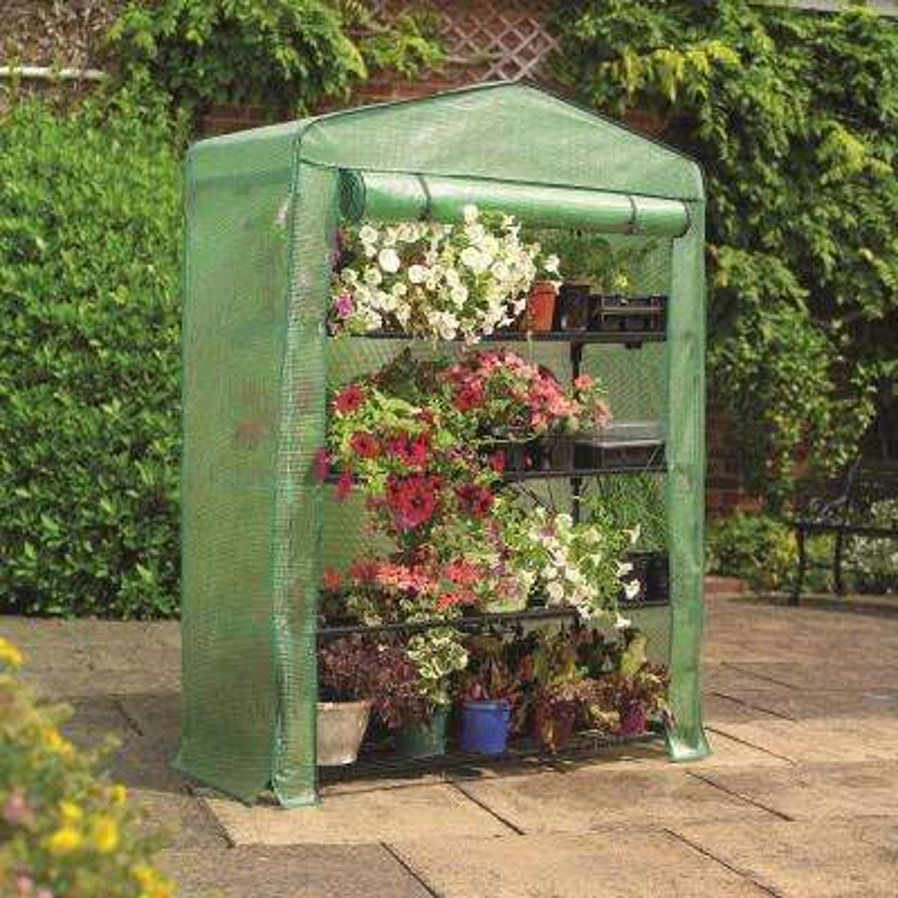 5 ft. 3 in. H x 3 ft. 11 in. W x 19 in. D 4-Tier Extra-Wide Mini Greenhouse