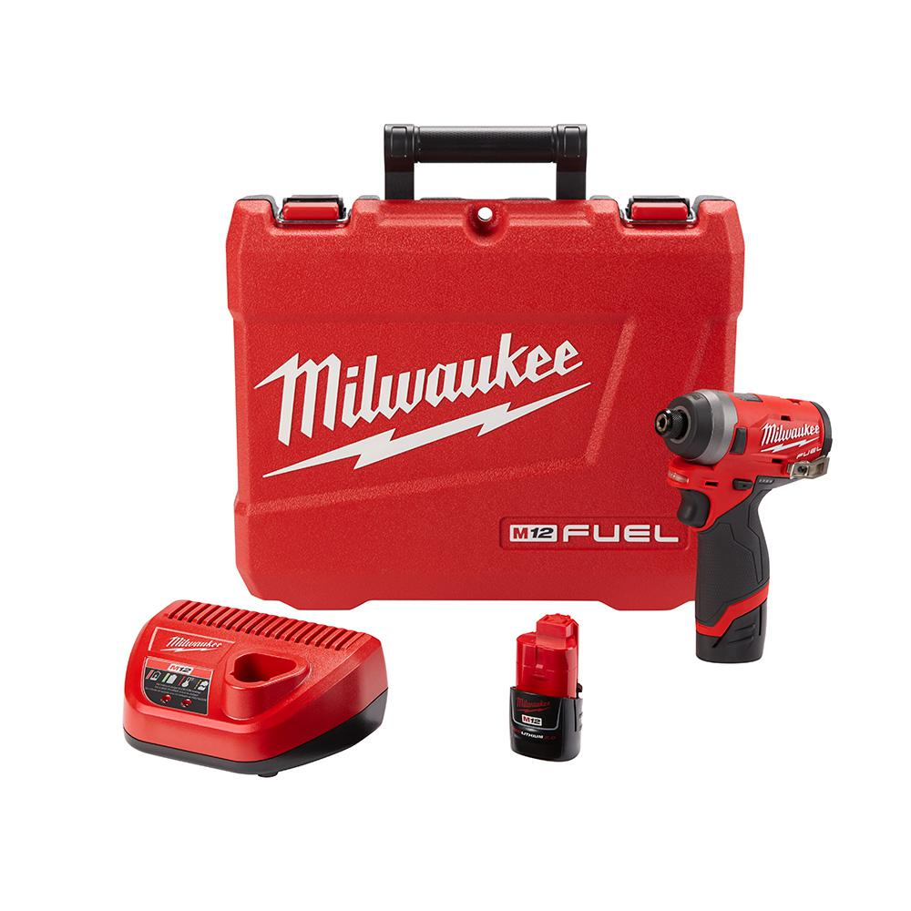 Milwaukee M12 FUEL 12-Volt Lithium-Ion Brushless Cordless 1/4 in.