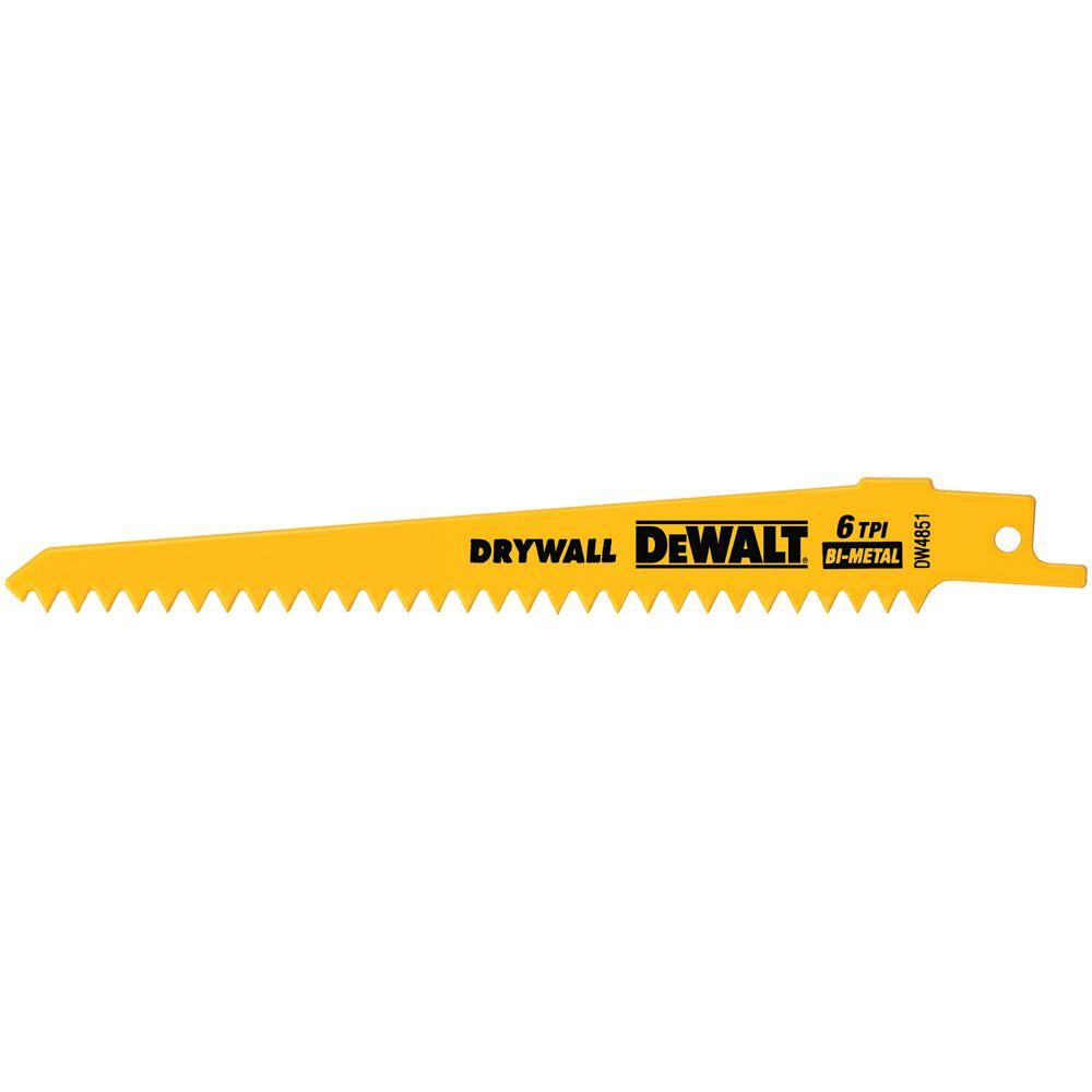 Dewalt 6 in 6 tpi plaster cutting bi metal reciprocating saw blade 6 tpi plaster cutting bi metal reciprocating saw blade 5 greentooth Gallery