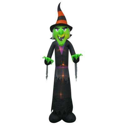 47.24 in. W x 40.55 in. D x 144.09 in. H Inflatable Witch