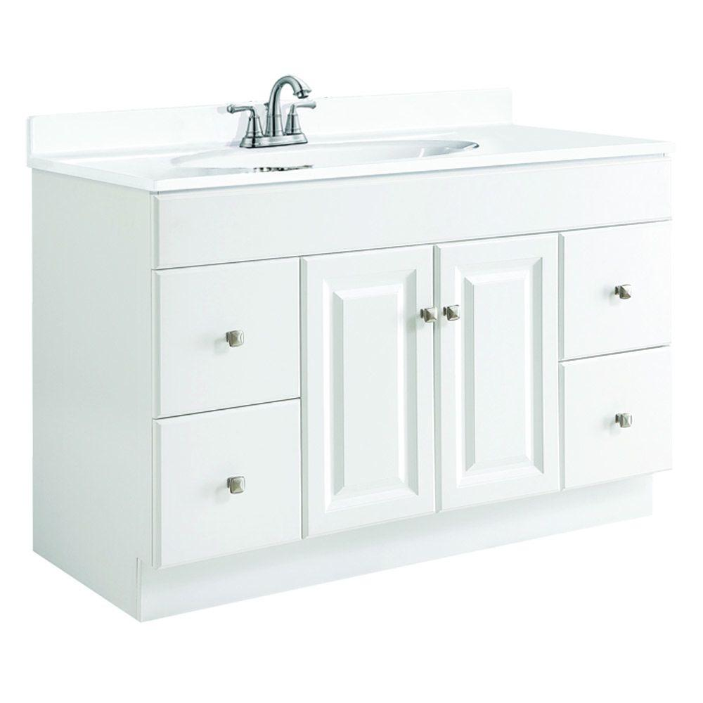 bathroom with white cabinets design house wyndham 48 in w x 21 in d unassembled 11887