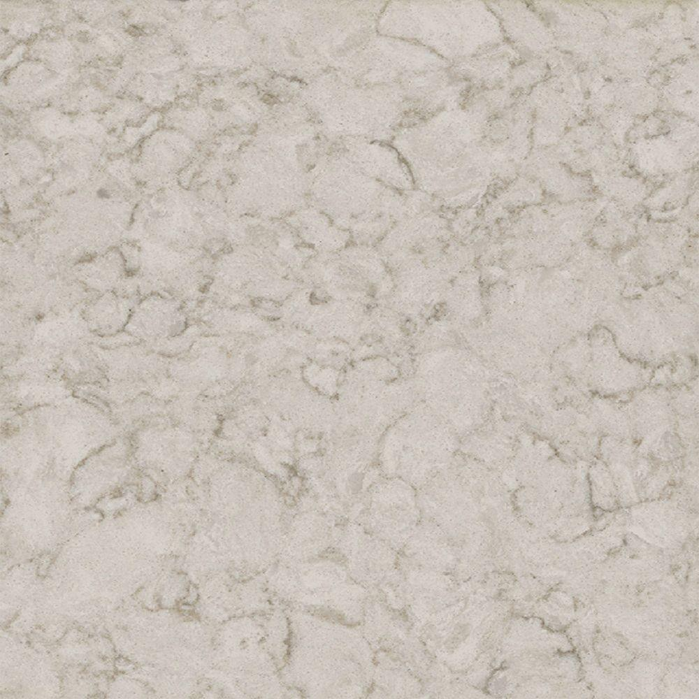 LG Hausys Viatera 3 in. x 3 in. Quartz Countertop Sample in Alba
