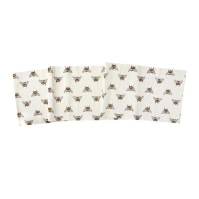 Bumble Bee 13 in. x 72 in. Multi Animal Print Cotton Table Runner
