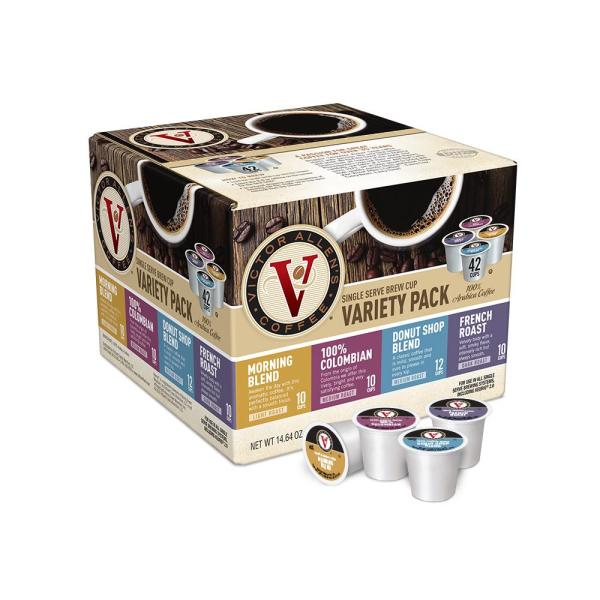 Variety Pack Assorted Roasts Coffee, Single Serve Cups (42-Pack)