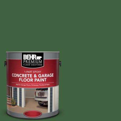 1 gal. #S400-7 Deep Viridian 1-Part Epoxy Satin Interior/Exterior Concrete and Garage Floor Paint