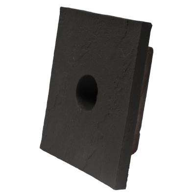 Sandstone Charcoal 8 in. x 9 in. Small Universal Mounting Block