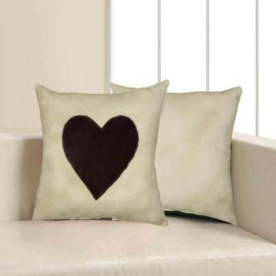 18 in. x 18 in. Gray Square Decorative Indoor Accent Pillow